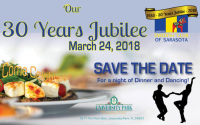 Swedish Club of Sarasota 30 year Jubilee