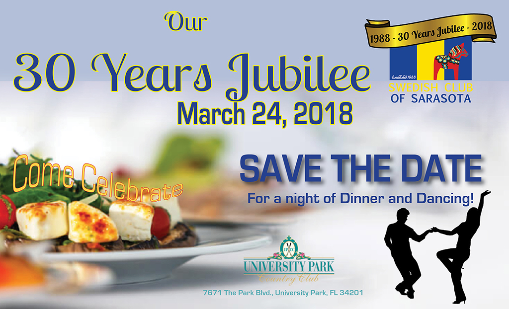 Swedish Club of Sarasota 30 year Jubilee