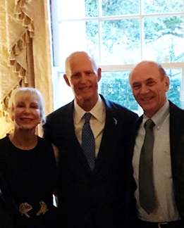 STA President attended a reception  hosted by Florida Governor Rick Scott